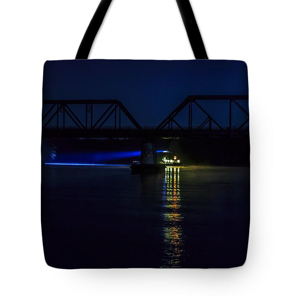 Tugboat Tote Bag featuring the photograph Nighttime Tug by Everet Regal