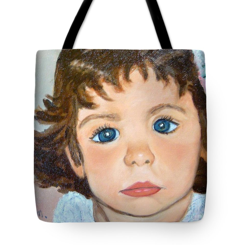 Portrait Tote Bag featuring the painting Nikki by Laurie Morgan