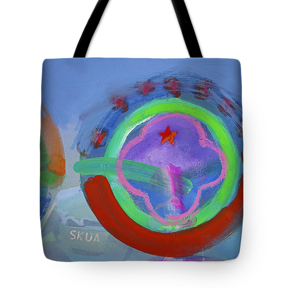 Texas Art Tote Bag featuring the painting Nine Eleven Image by Charles Stuart