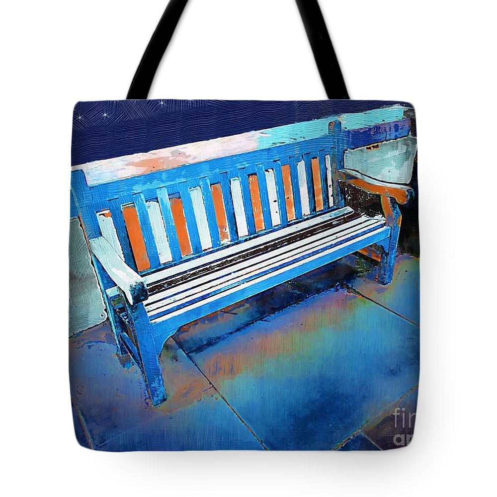Bench Tote Bag featuring the painting Nineteen Stars by RC DeWinter