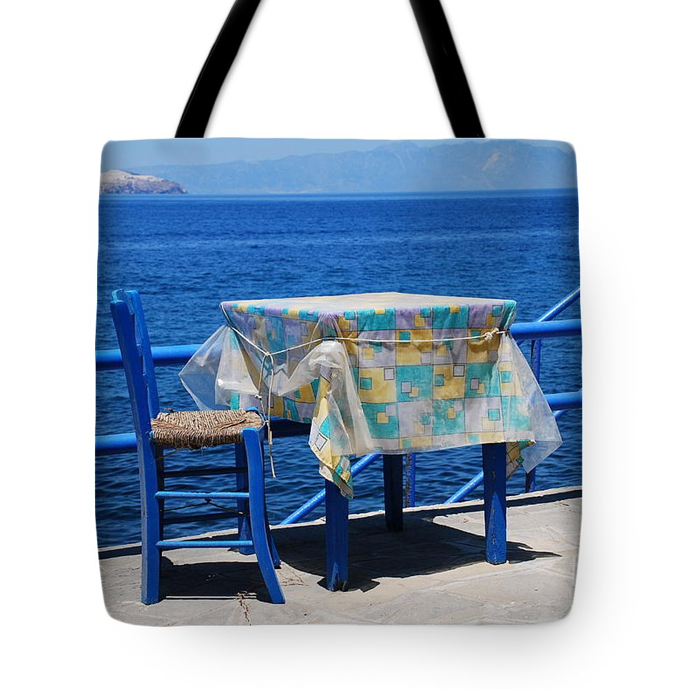 Nisyros Tote Bag featuring the photograph Nisyros Taverna by David Fowler