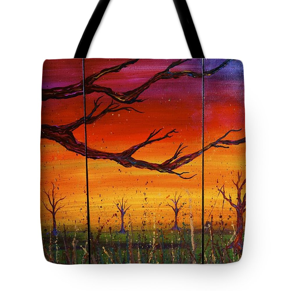 Tree Tote Bag featuring the painting No. #1228 by Jacqueline Athmann