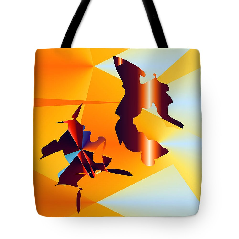 Tote Bag featuring the digital art No. 640 by John Grieder