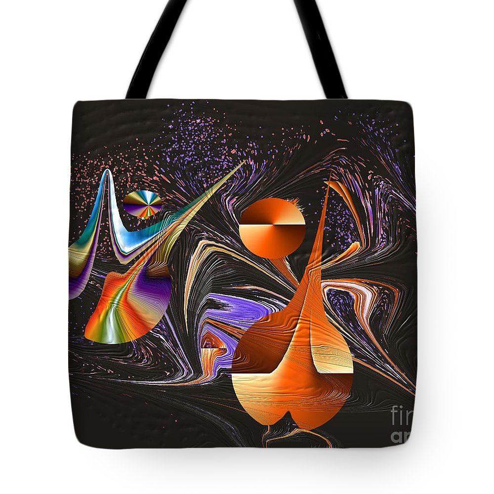 Tote Bag featuring the digital art No. 642 by John Grieder