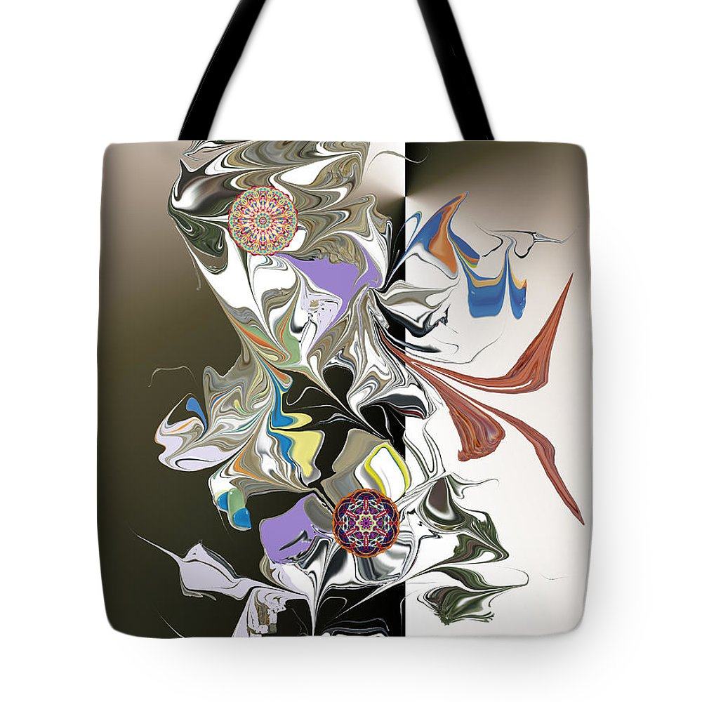 Tote Bag featuring the digital art No. 647 by John Grieder