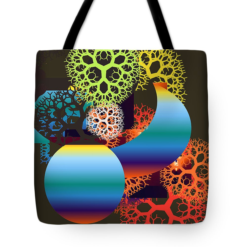 Tote Bag featuring the digital art No. 817 by John Grieder