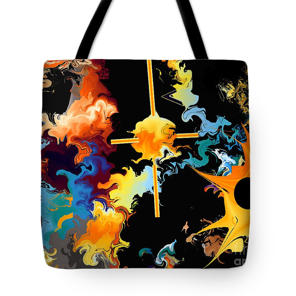 Tote Bag featuring the digital art No. 830 by John Grieder