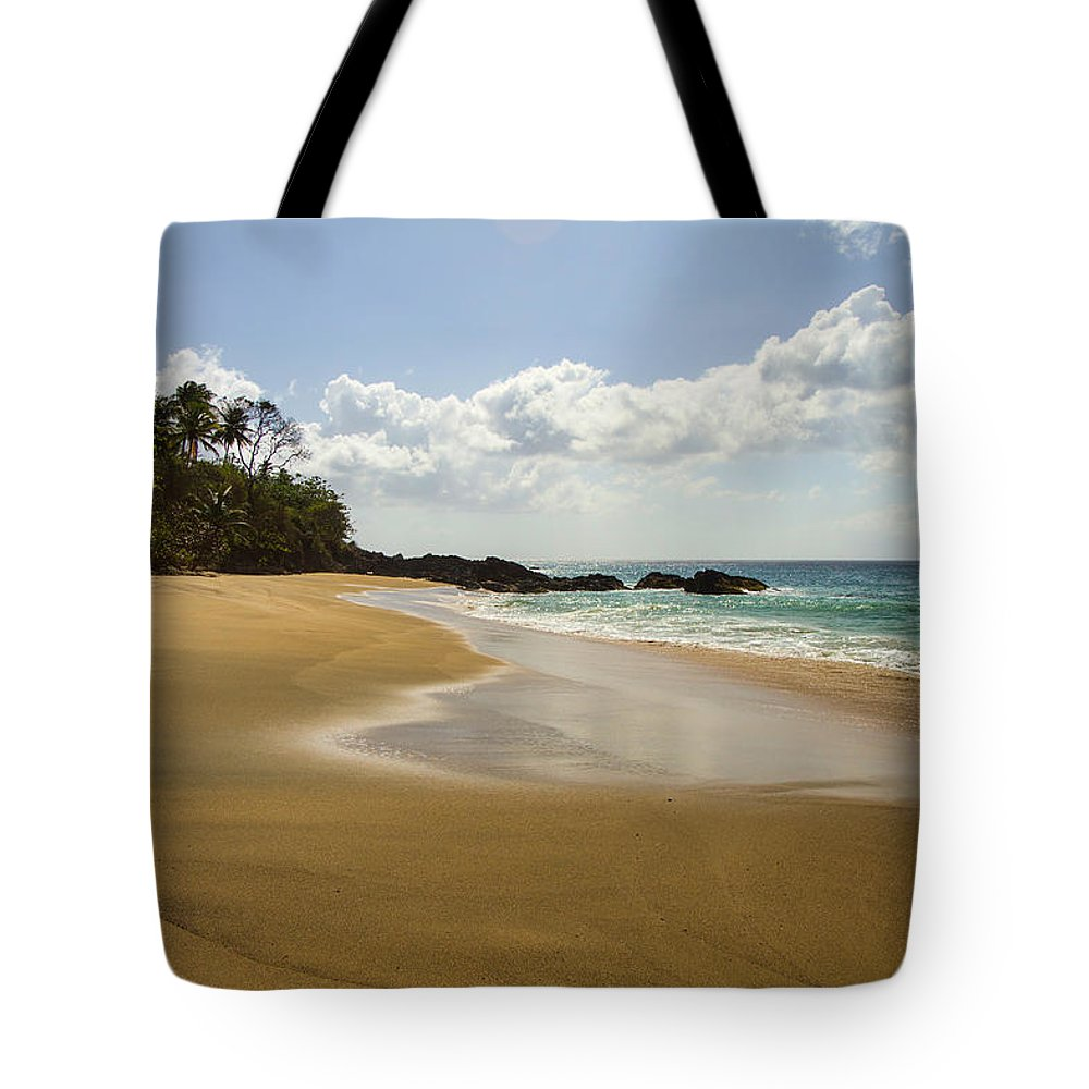 Beach Tote Bag featuring the photograph No Footprints by Hugh Stickney