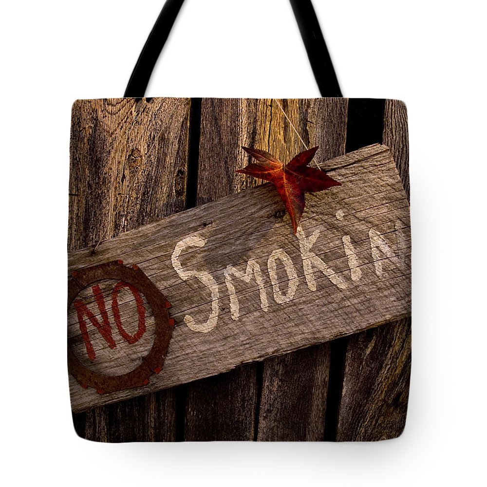 Barn Tote Bag featuring the photograph No Smokin by Jennifer Stackpole