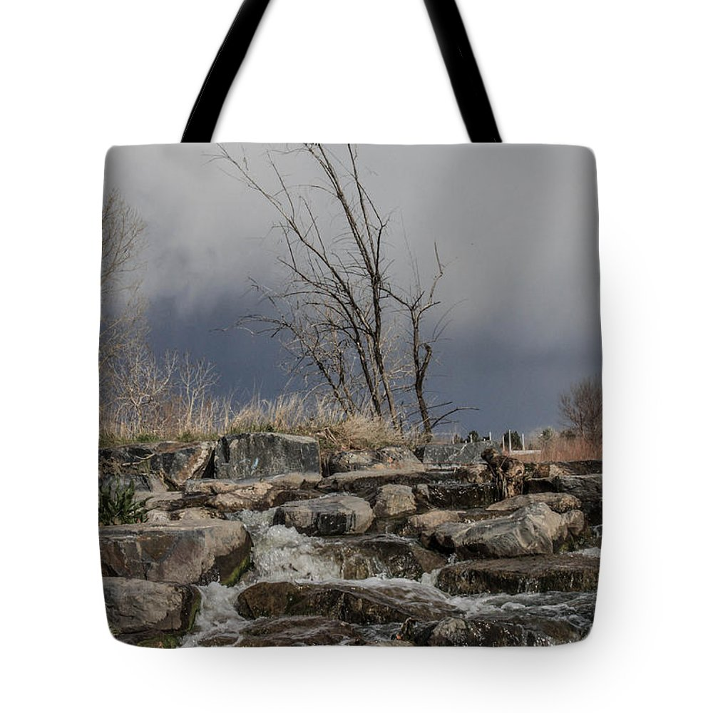 Small Waterfall Tote Bag featuring the photograph No Title Yet by Josh Scanlon