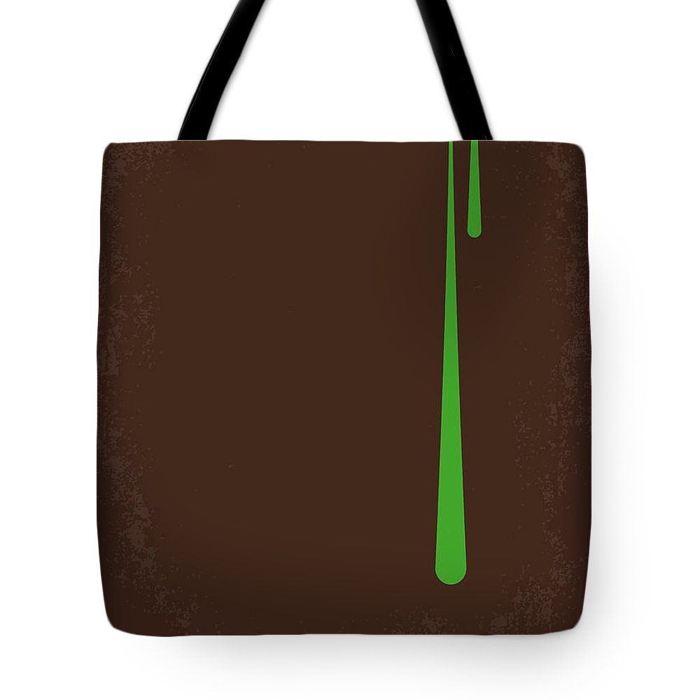 Alien Tote Bag featuring the digital art No004 My Alien minimal movie poster by Chungkong Art