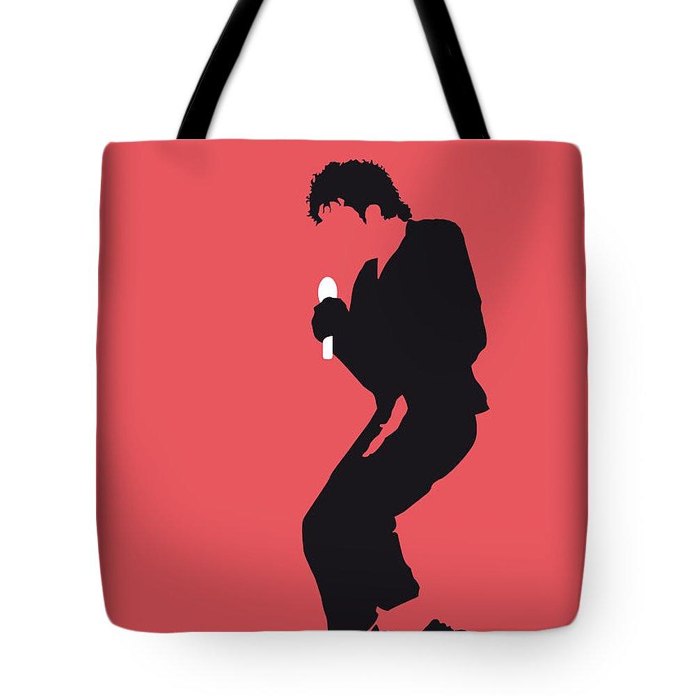 Michael Tote Bag featuring the digital art No032 My Michael Jackson Minimal Music Poster by Chungkong Art