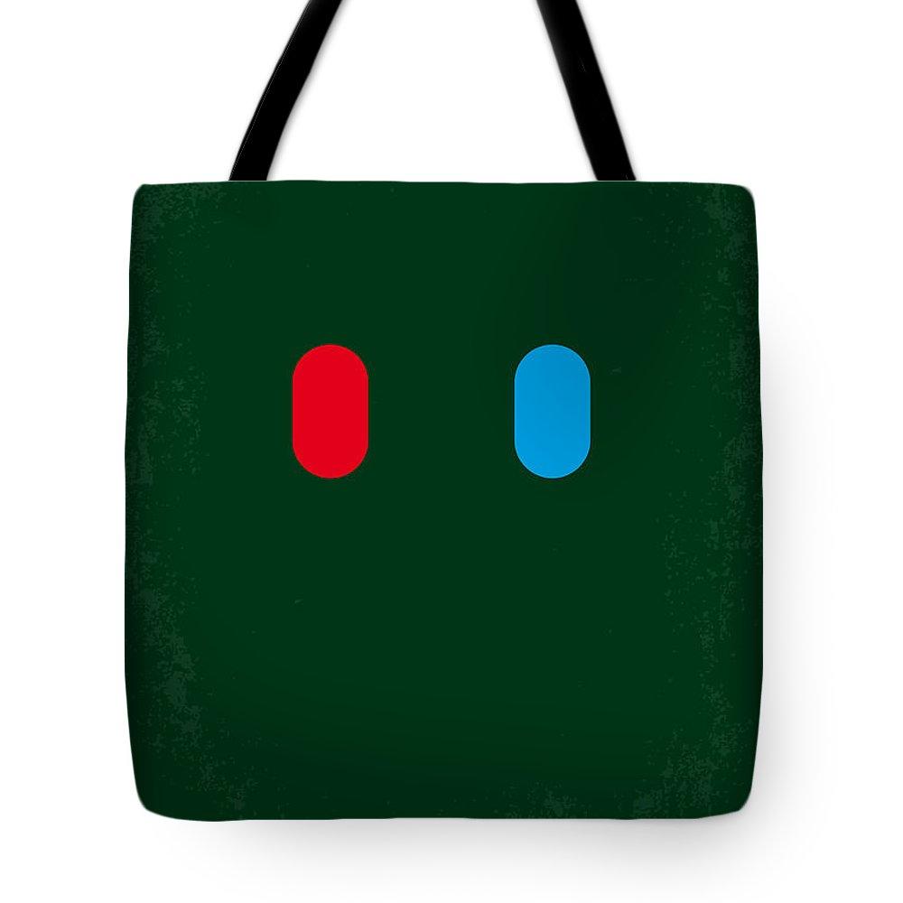Matrix Tote Bag featuring the digital art No117 My MATRIX minimal movie poster by Chungkong Art