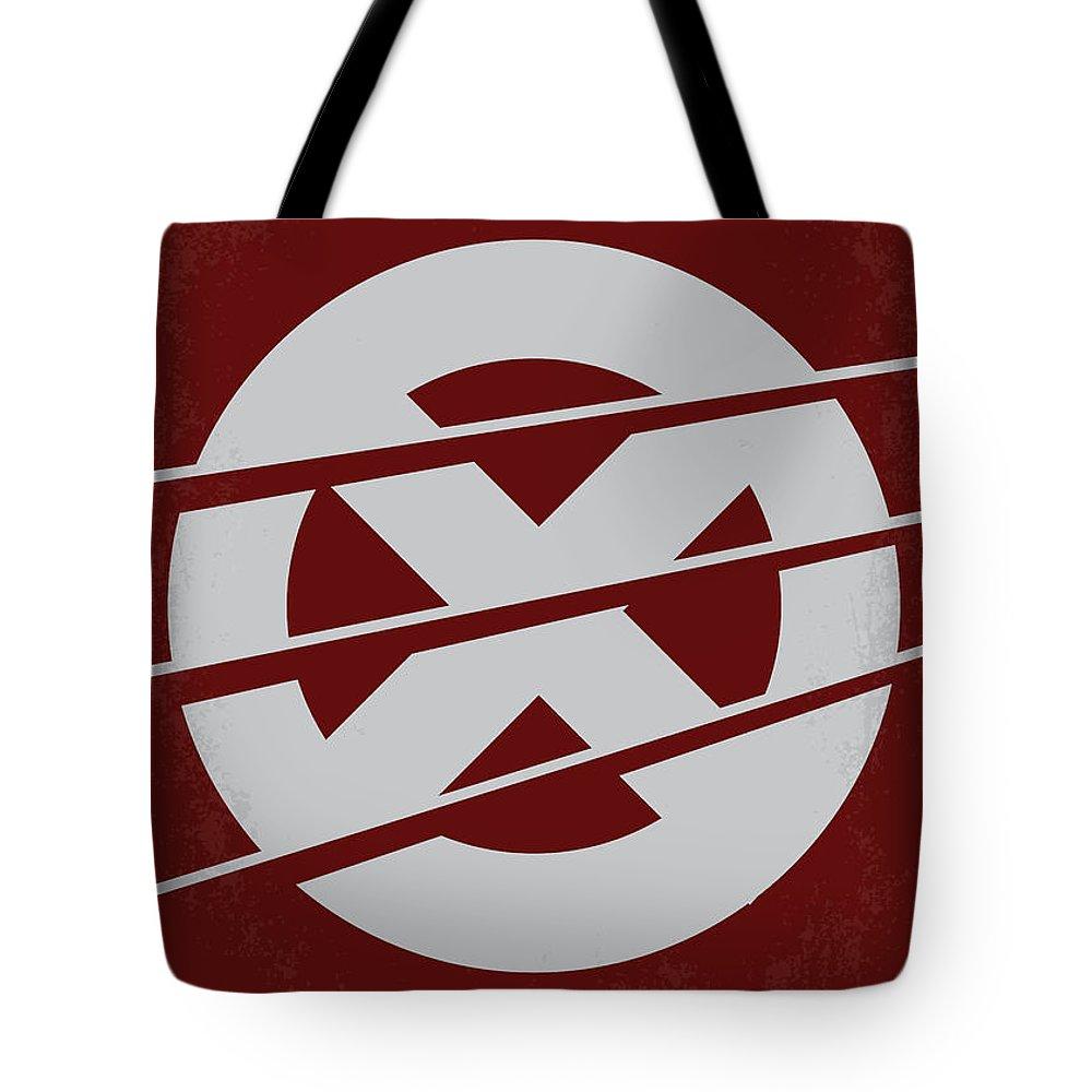 Xmen Tote Bag featuring the digital art No123 My Xmen minimal movie poster by Chungkong Art