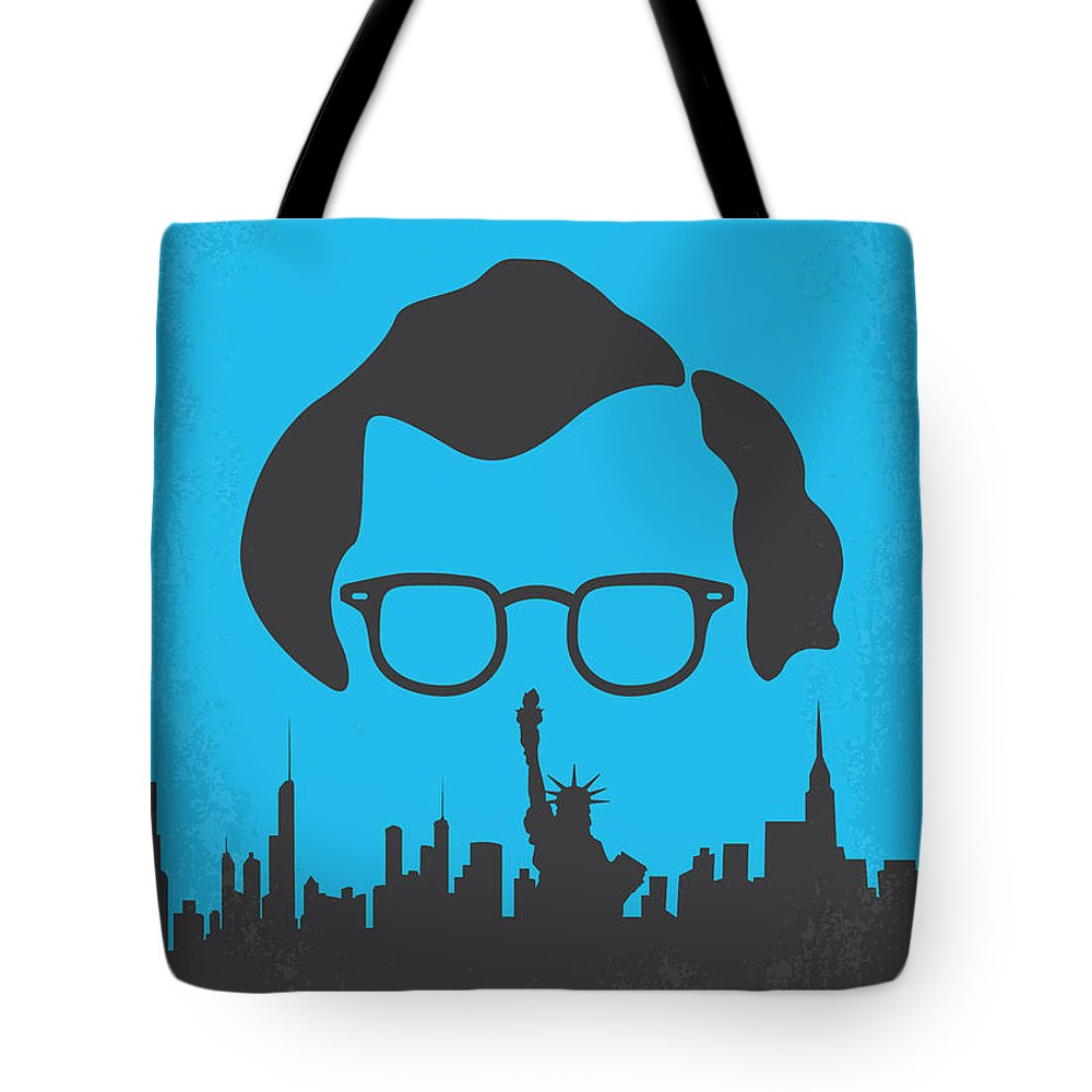 Manhattan Tote Bag featuring the digital art No146 My Manhattan Minimal Movie Poster by Chungkong Art