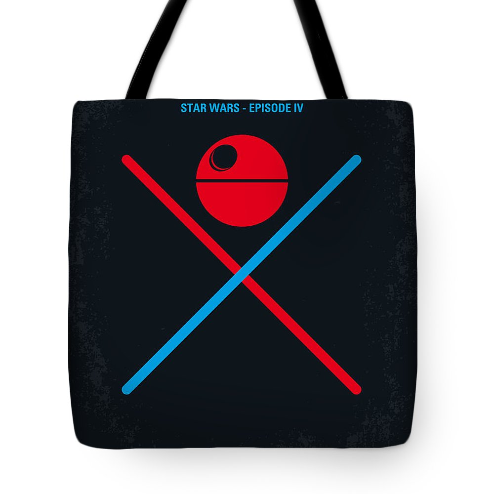 Star Tote Bag featuring the digital art No154 My Star Wars Episode Iv A New Hope Minimal Movie Poster by Chungkong Art