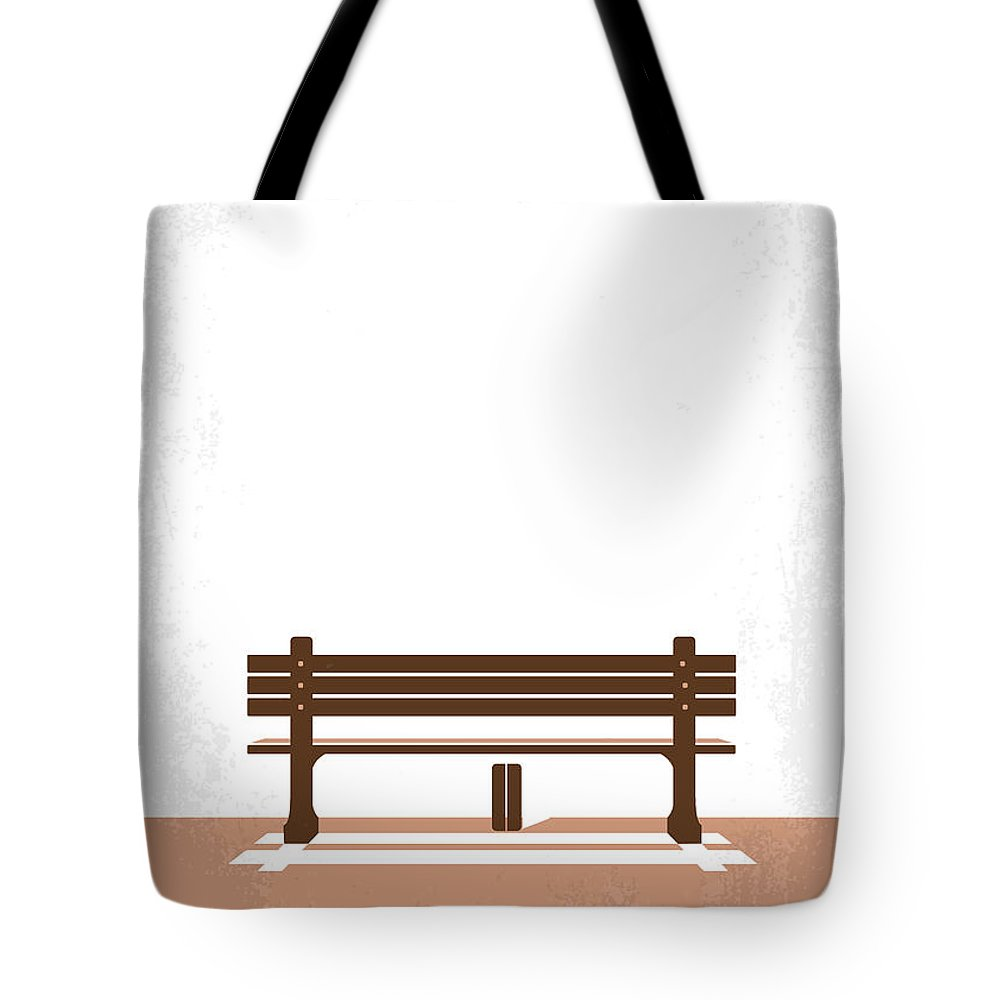 Forrest Tote Bag featuring the digital art No193 My Forrest Gump minimal movie poster by Chungkong Art