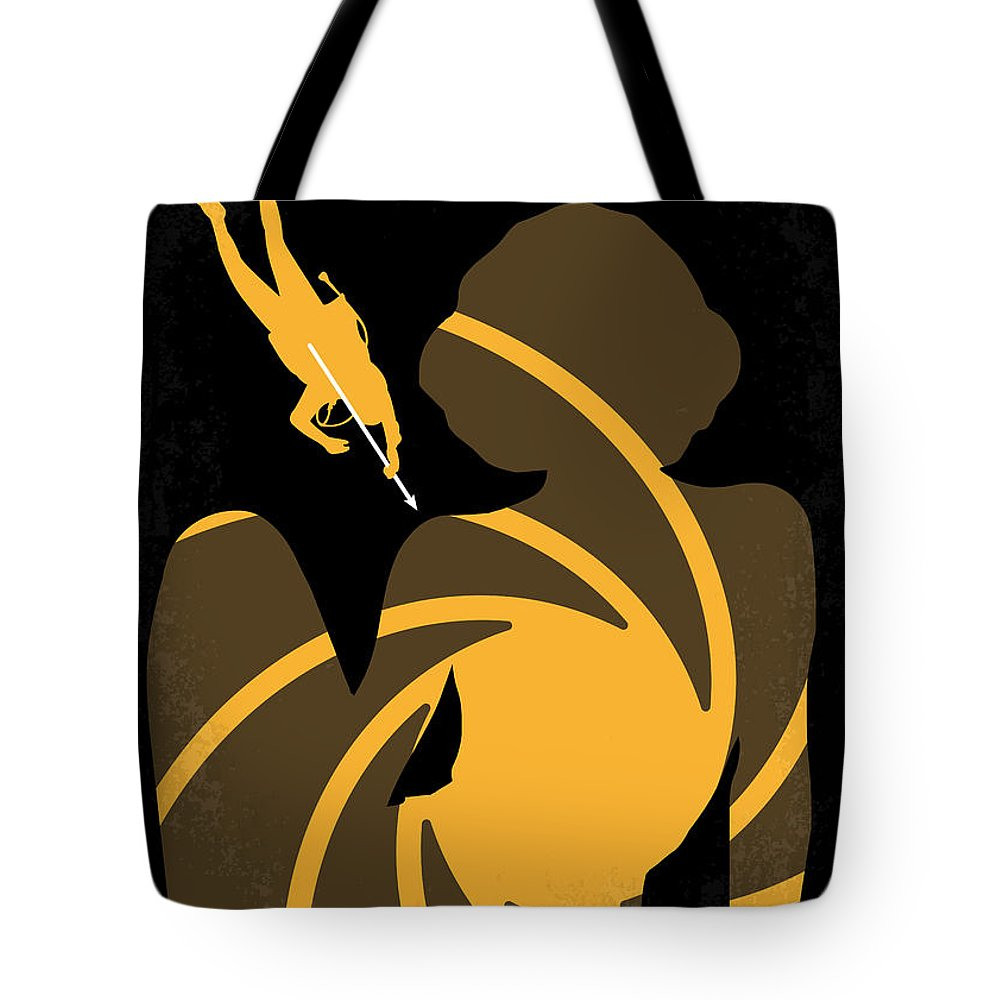Thunderball Tote Bag featuring the digital art No277-007 My Thunderball Minimal Movie Poster by Chungkong Art