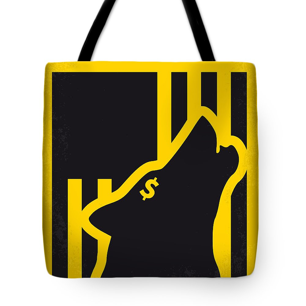 The Tote Bag featuring the digital art No338 My Wolf Of Wallstreet Minimal Movie Poster by Chungkong Art