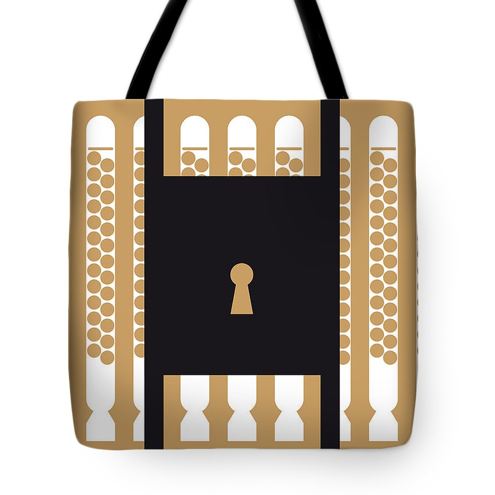 The Tote Bag featuring the digital art No339 My The Rock Minimal Movie Poster by Chungkong Art