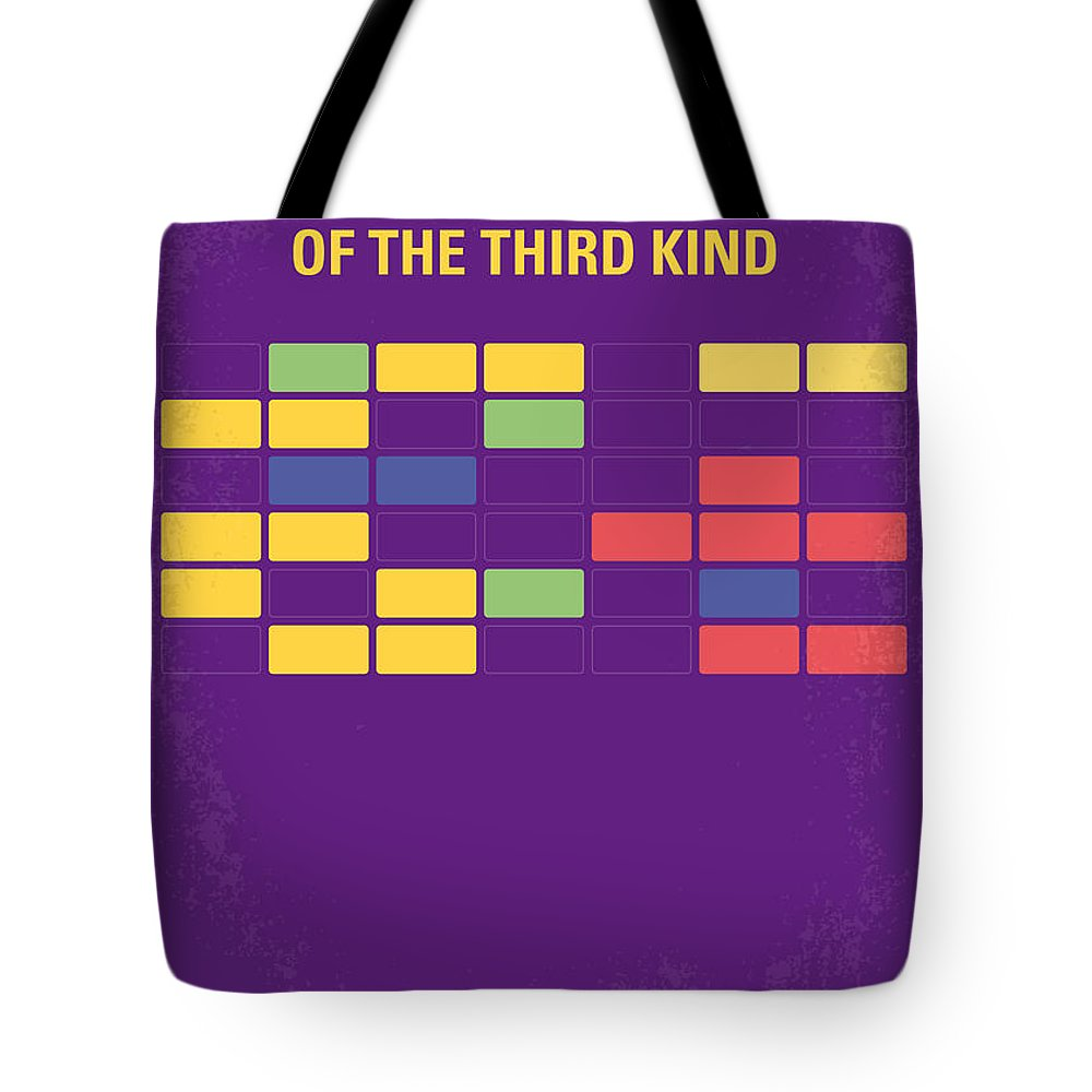 Encounters Tote Bag featuring the digital art No353 My Encounters Of The Third Kind Minimal Movie Poster by Chungkong Art