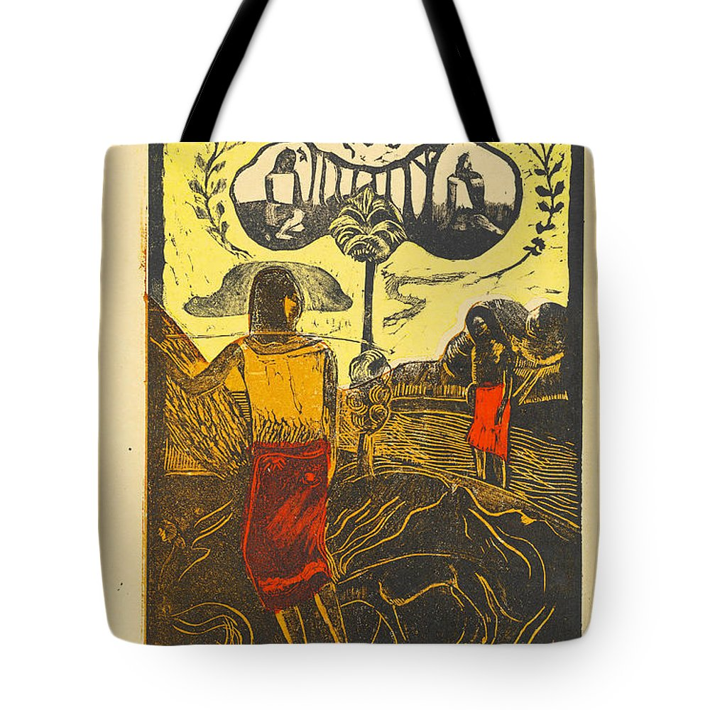Paul Gauguin Tote Bag featuring the painting Noa Noa.fragrant Fragrant by Paul Gauguin