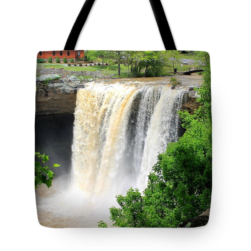 Noccalola Tote Bag featuring the photograph Noccalola Falls by Mary Koval
