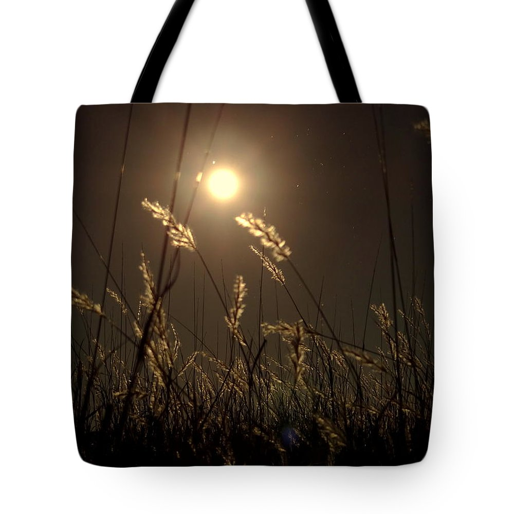 Night Tote Bag featuring the photograph Nocturnal Glow by Onyx Armstrong
