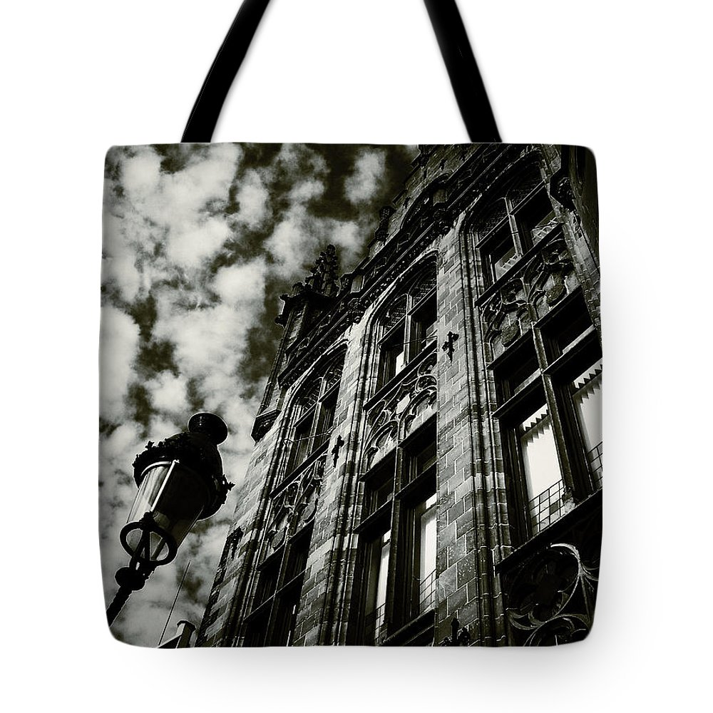 Connie Handscomb Tote Bag featuring the photograph Noir Moment In Brugges by Connie Handscomb