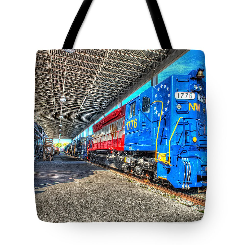 Historic Tote Bag featuring the photograph Norfolk And Western 1776 by Greg Hager