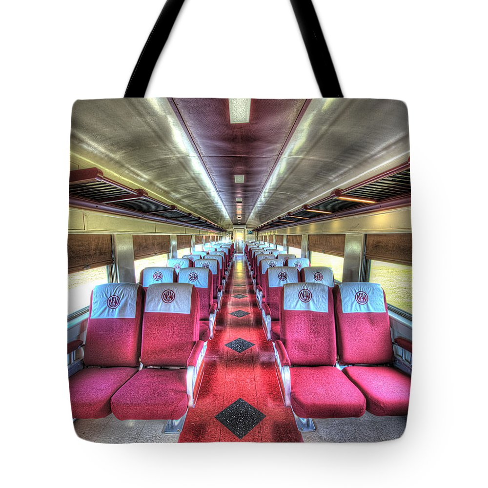 Historic Tote Bag featuring the photograph Norfolk And Western Passenger Coach by Greg Hager
