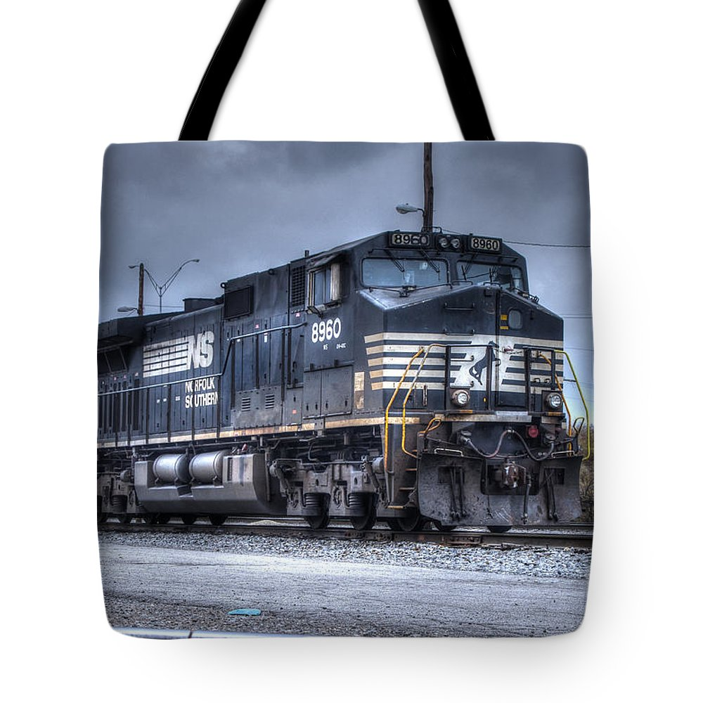 Engine Tote Bag featuring the photograph Norfolk Southern #8960 Engine II by J M Lister