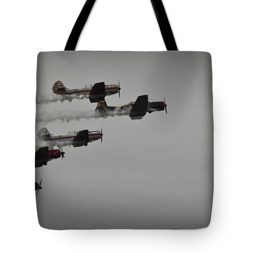 Transportation Tote Bag featuring the photograph Norteast Raiders At The Greenwood Lake Airshow 2012 by Jorge Perez - BlueBeardImagery
