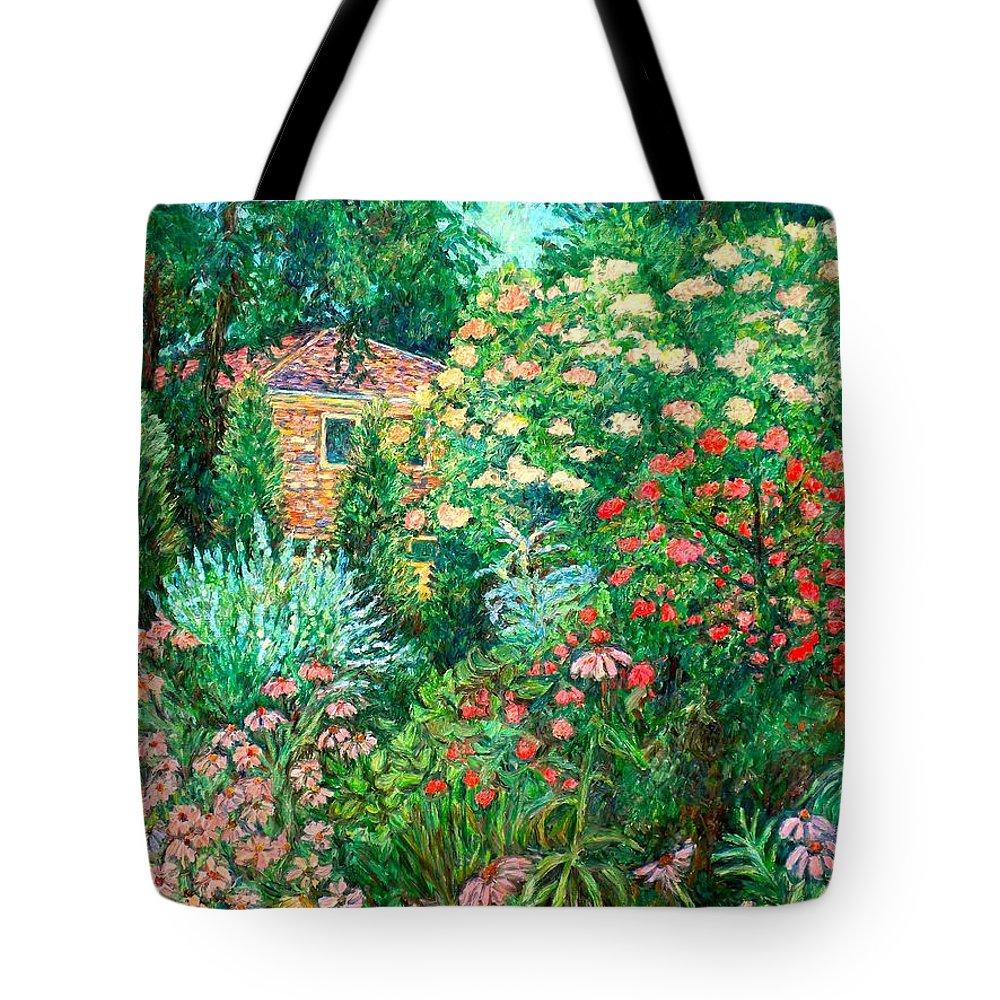 Garden Tote Bag featuring the painting North Albemarle In Mclean Va by Kendall Kessler
