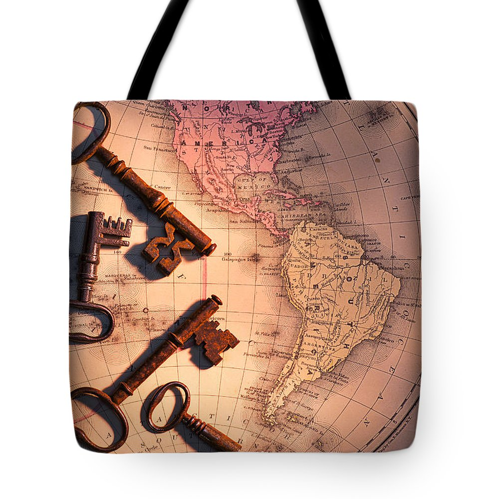 Old Tote Bag featuring the photograph North America And Old Keys by Garry Gay