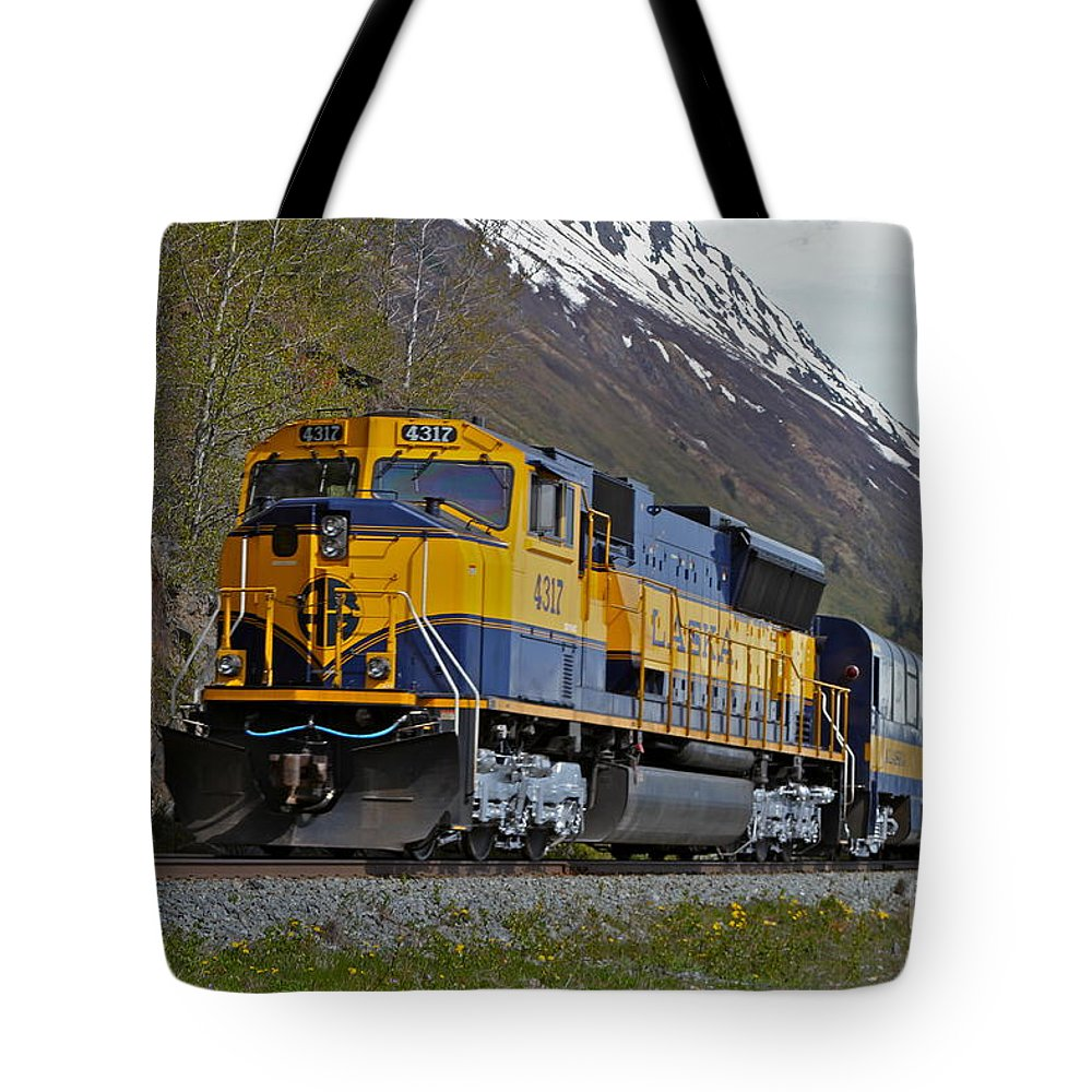 Train Tote Bag featuring the photograph North Bound by Rick Monyahan