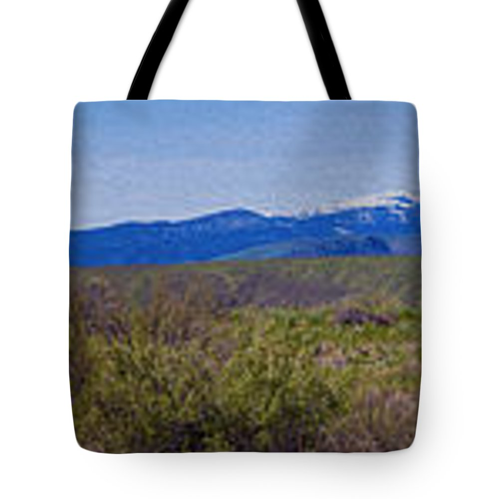 North Cascades Tote Bag featuring the photograph North Cascades Game Range Panorama by Omaste Witkowski