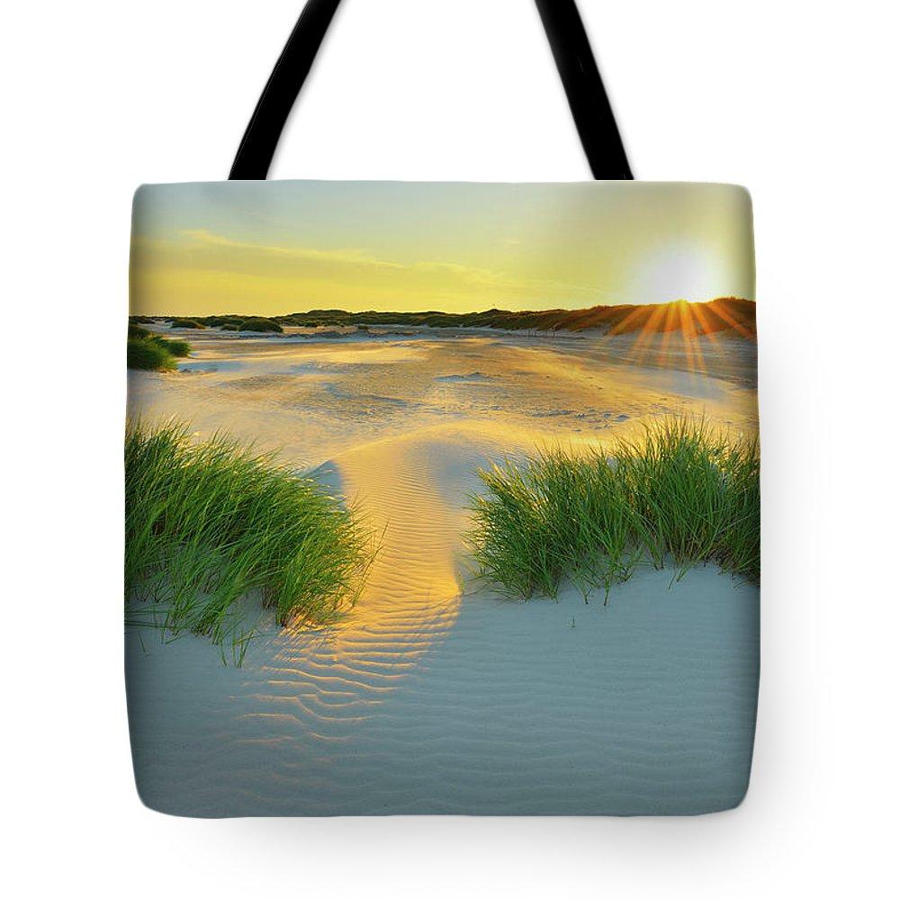 Scenics Tote Bag featuring the photograph North Sea Sandbank Kniepsand by Raimund Linke