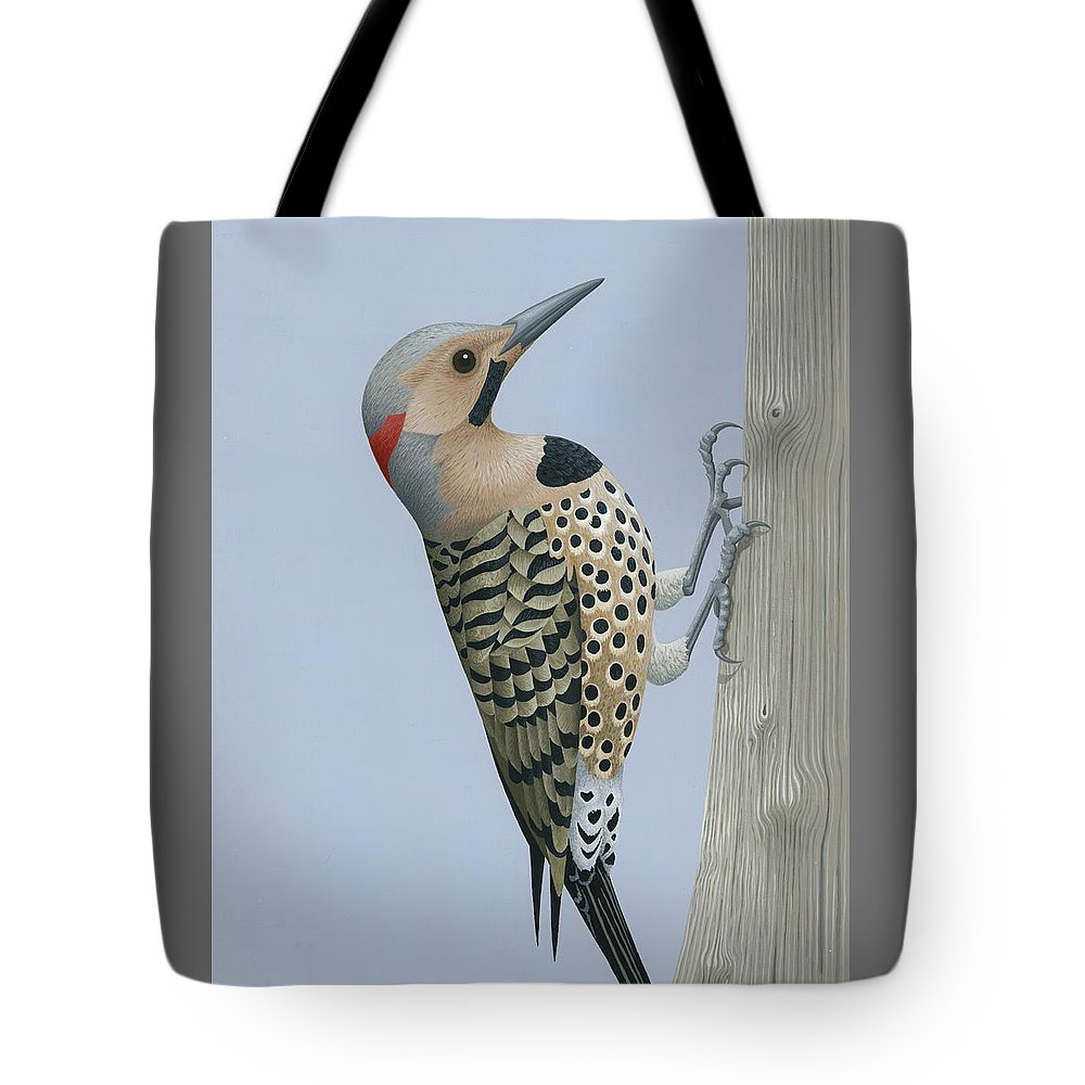 Painting Tote Bag featuring the painting Northern Flicker by Nathan Marcy