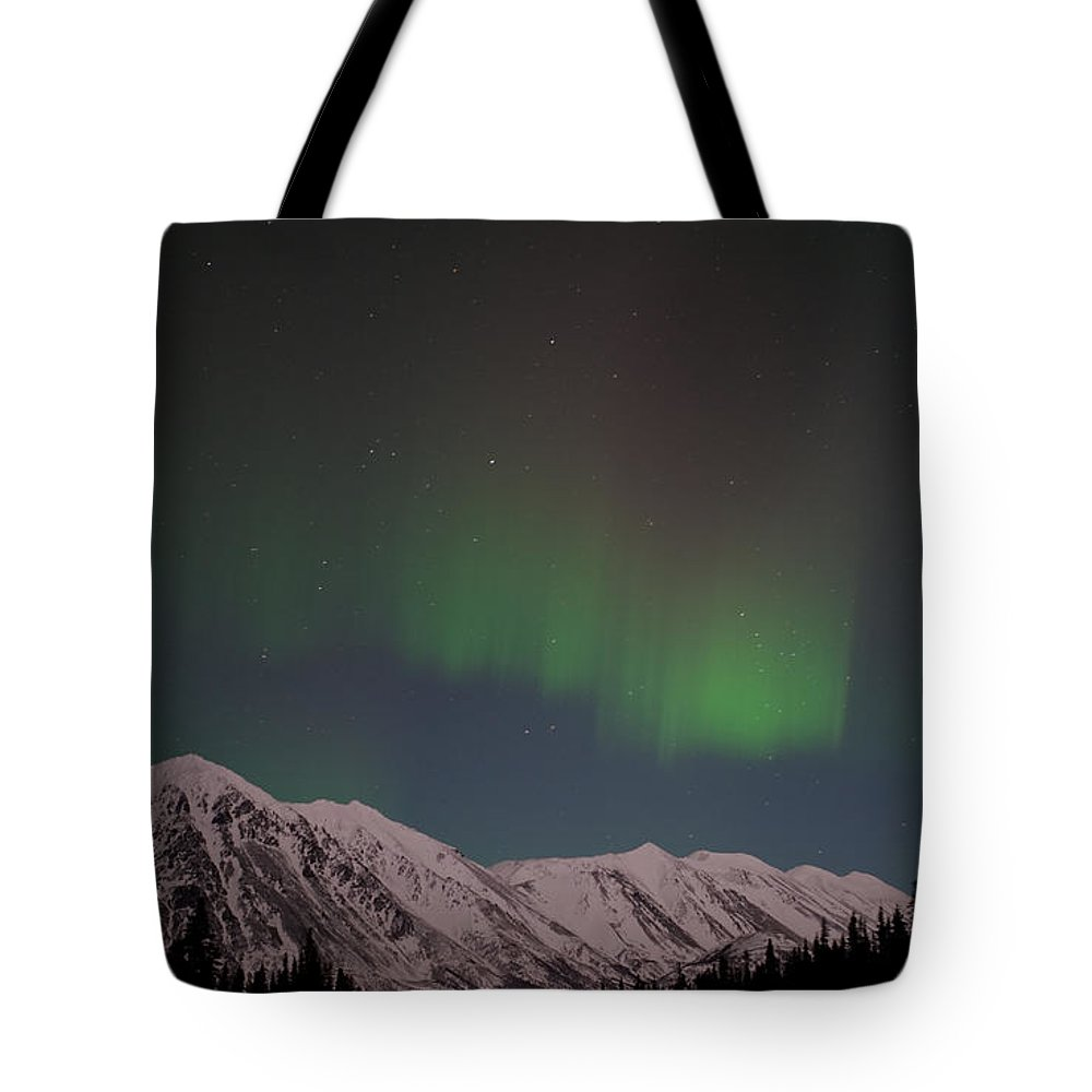 Northern Lights Tote Bag featuring the photograph Northern Lights 2 by Clint Pickarsky