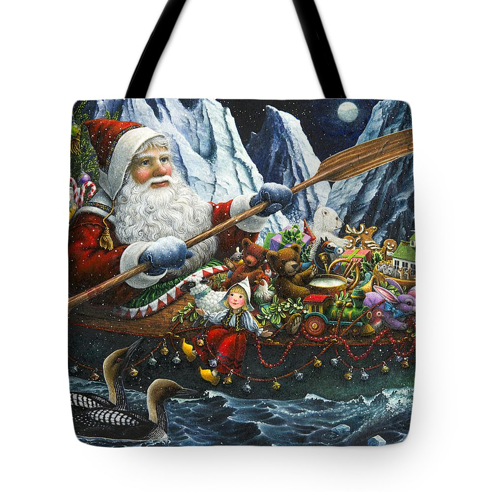 Santa Claus Tote Bag featuring the painting Northern Passage by Lynn Bywaters