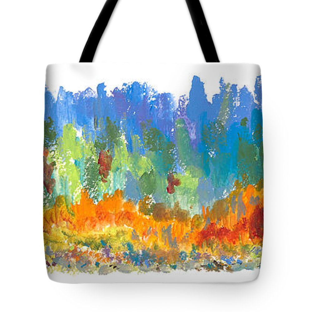 Contemporary Tote Bag featuring the painting Northern Shore by Bjorn Sjogren
