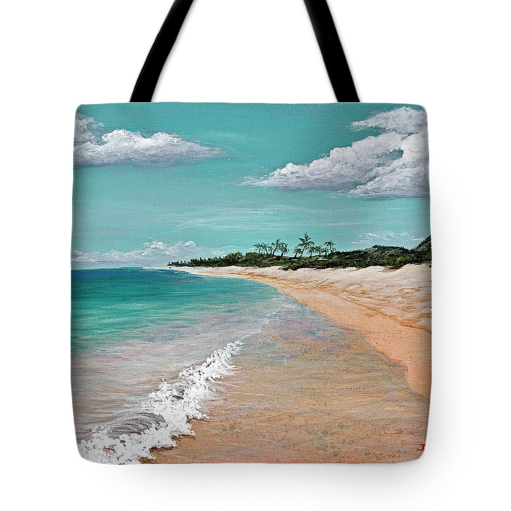 Hawaii Tote Bag featuring the painting Northshore Oahu by Darice Machel McGuire