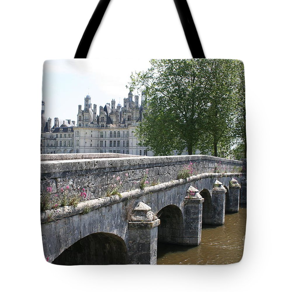 Palace Tote Bag featuring the photograph Northwest Facade Of The Chateau De Chambord by Christiane Schulze Art And Photography