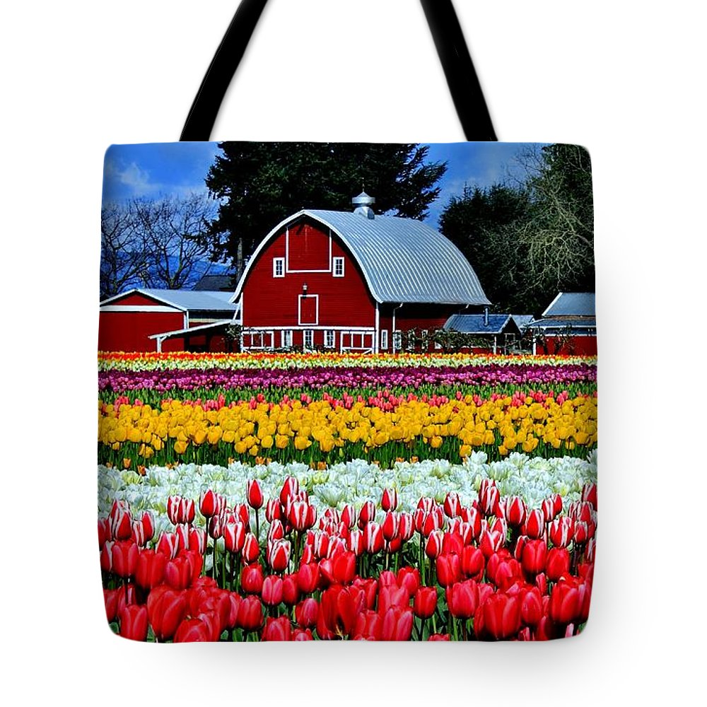 Tulips Tote Bag featuring the photograph Northwest Splendor by Benjamin Yeager