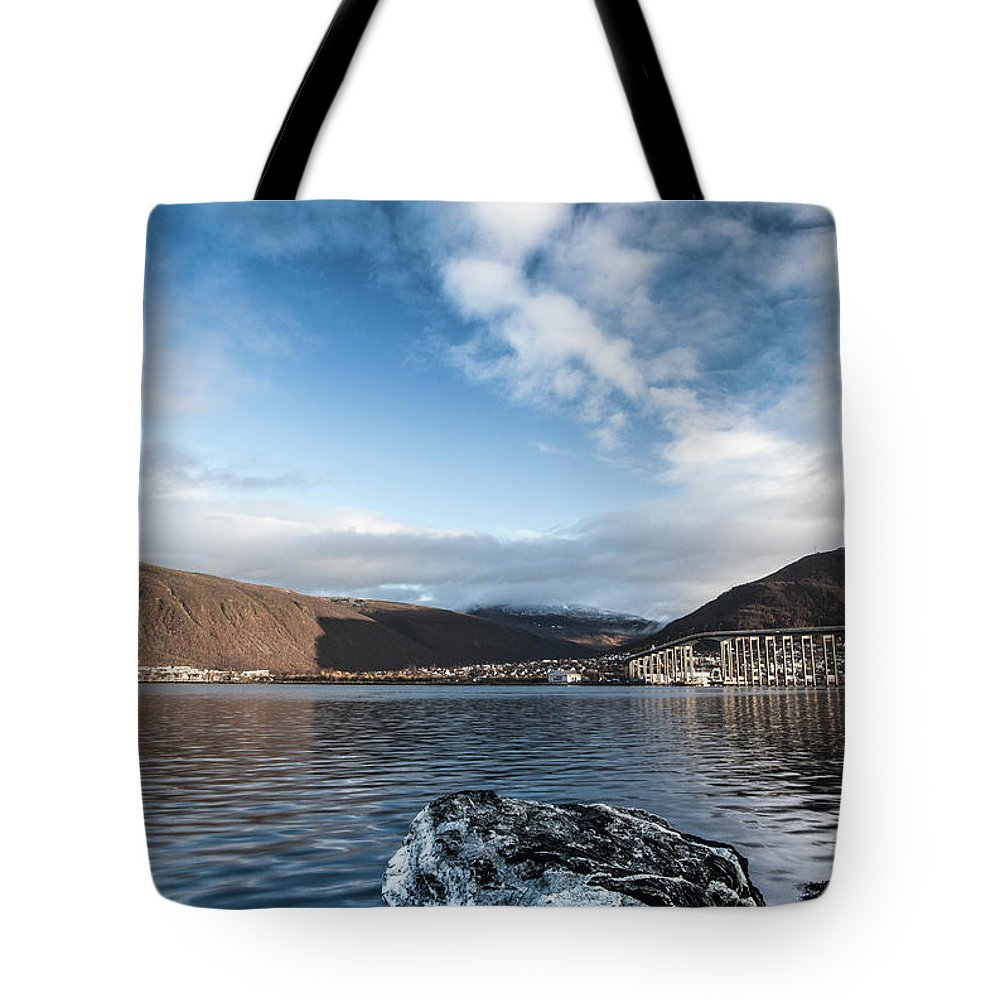 Tromso Tote Bag featuring the photograph Norway Day Shot by Jordanwhipps1987