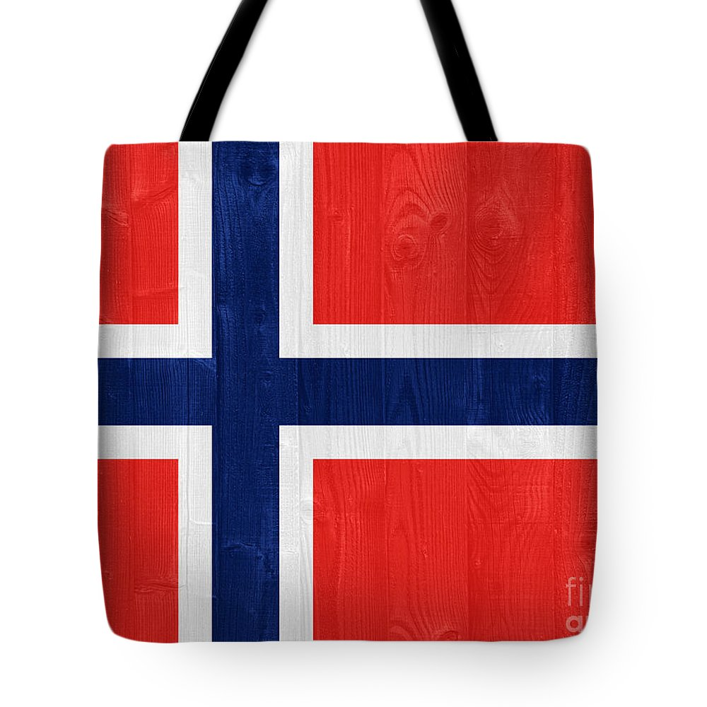 Norway Tote Bag featuring the photograph Norway Flag by Luis Alvarenga