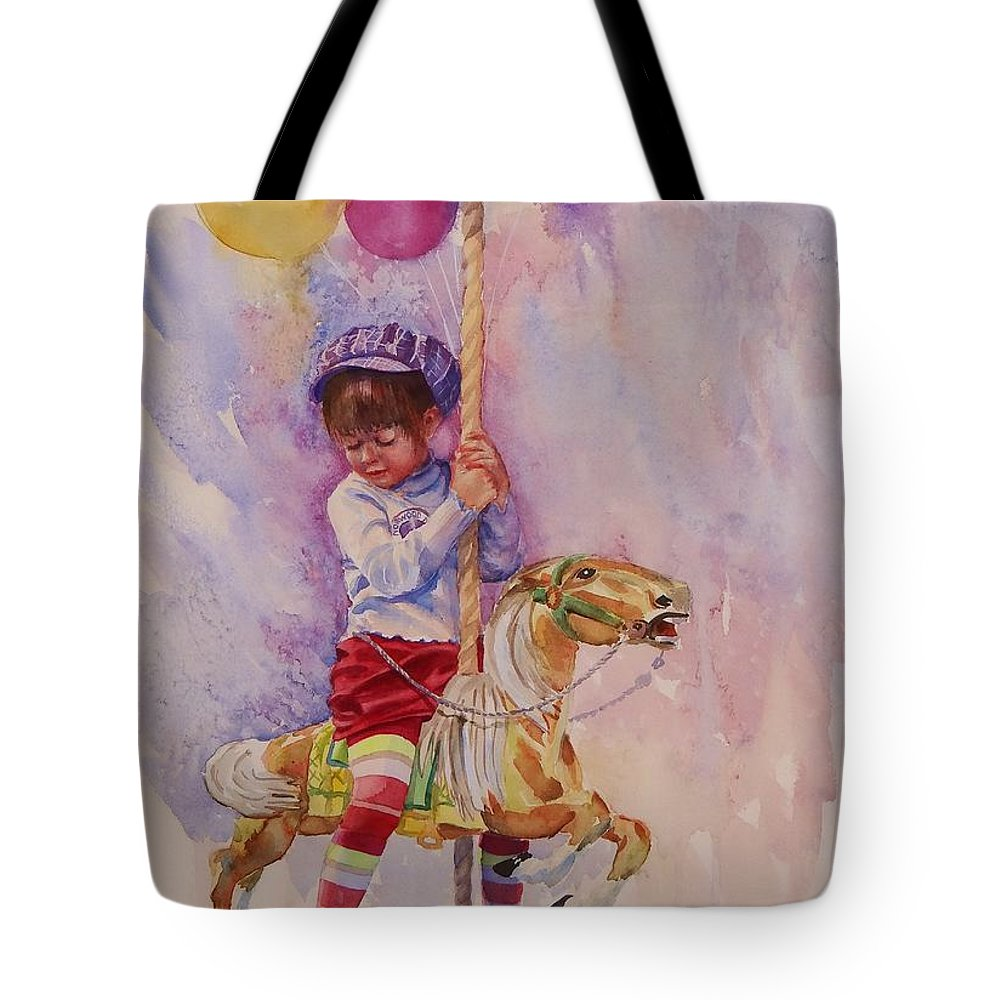 Water Color Painting Tote Bag featuring the painting Norwood Day by Laura Lee Zanghetti