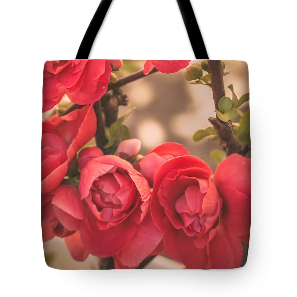 Flowers Tote Bag featuring the photograph Nostalgia by Sara Frank