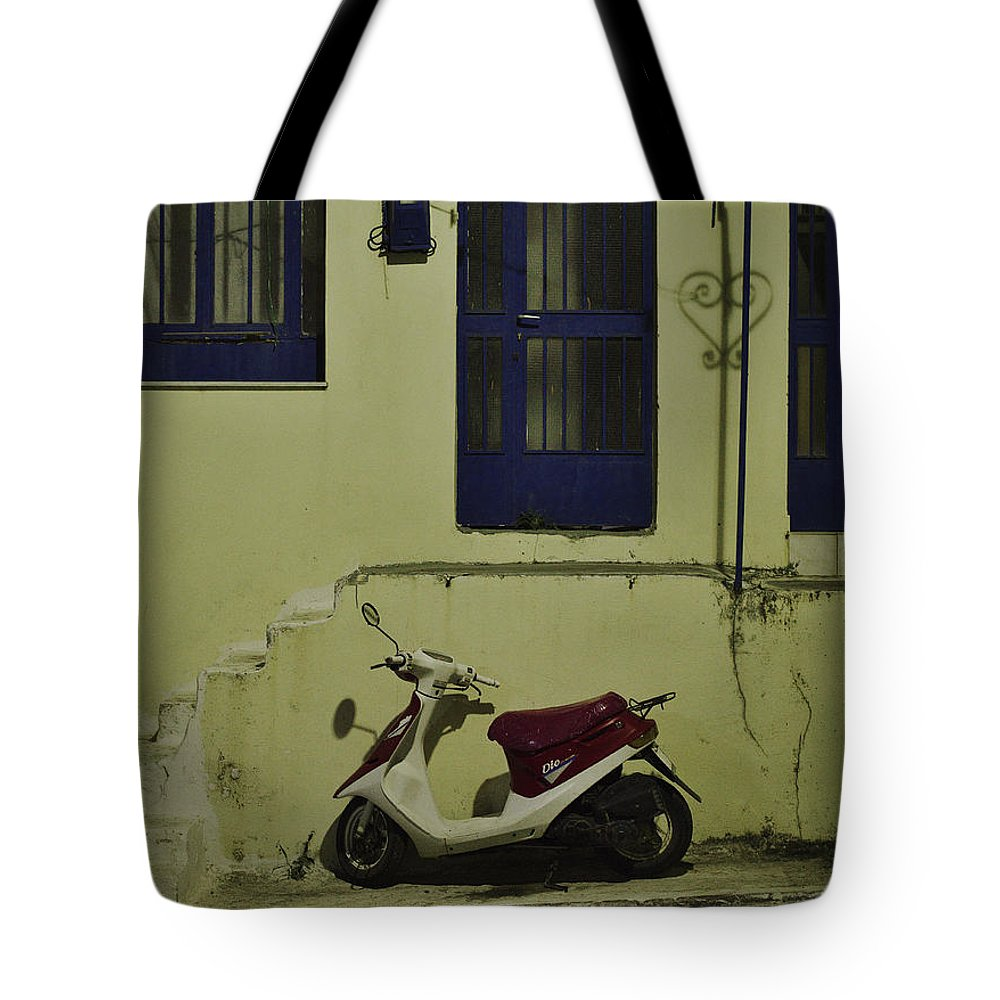 Scooter Tote Bag featuring the photograph Nostalgic by Ivan Slosar